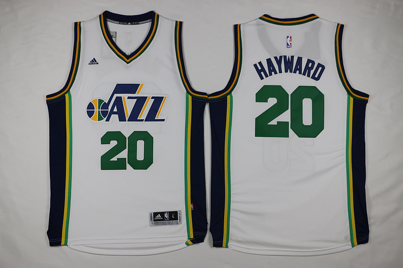 NBA Utah Jazz 20 Gordon Hayward White 2015 Jerseys