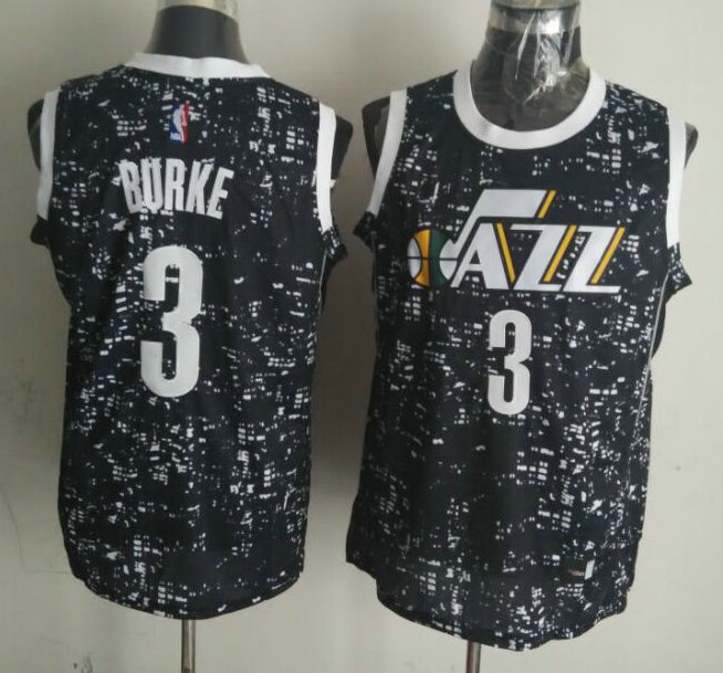 NBA Utah Jazz 3 burke black National Flag Star Jersey