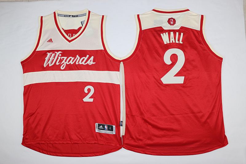 NBA Washington Wizards 2 John Wall Red 2015 Christmas Day Swingman Jersey