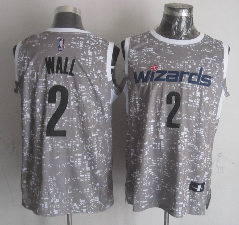 NBA Washington Wizards 2 wall grey New National Flag Star Jersey
