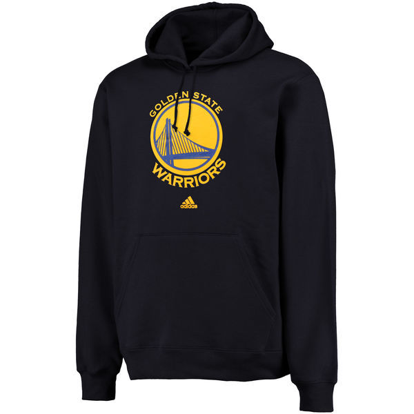 NBA adidas Golden State Warriors Logo Pullover Hoodie Sweatshirt - Navy