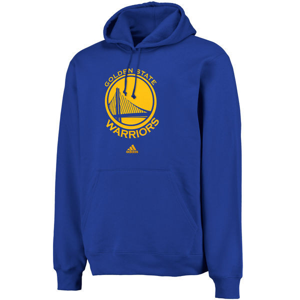 NBA adidas Golden State Warriors Logo Pullover Hoodie Sweatshirt - Royal
