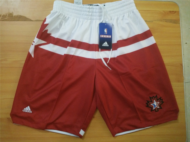 NBA all star red shorts