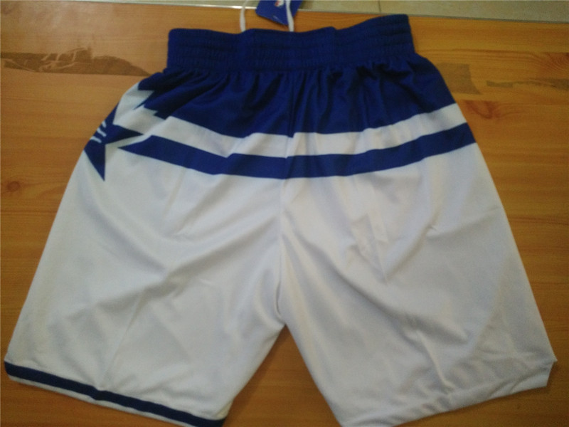 NBA all star white shorts