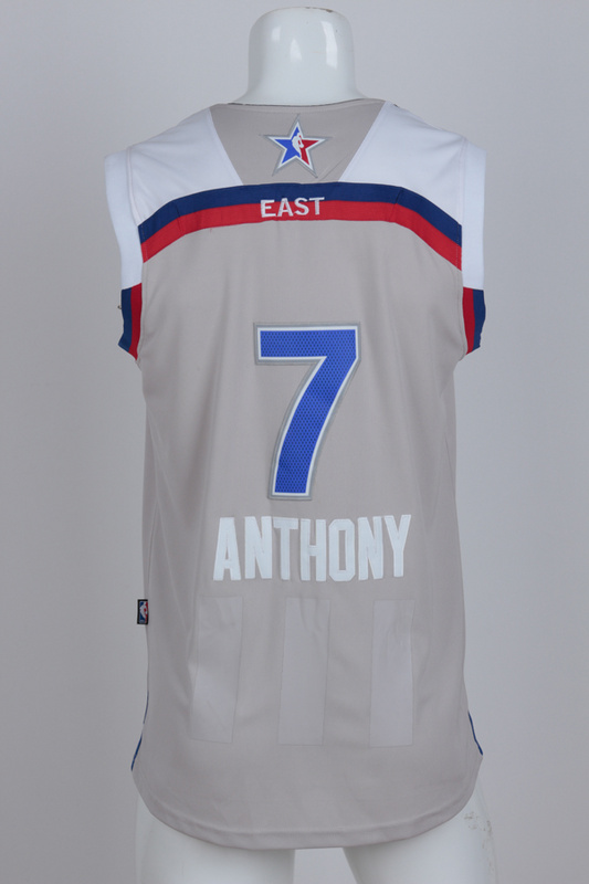 New York Knicks 7 Anthony grey 2017 NBA All Star jerseys