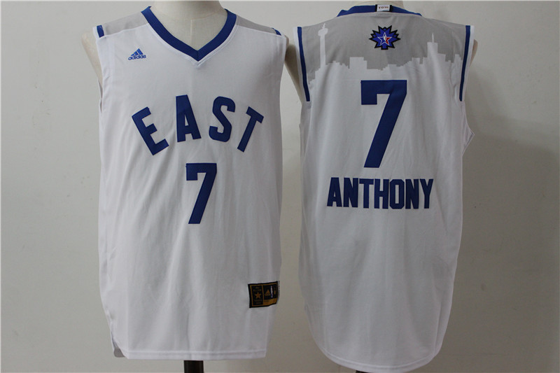 New York Knicks 7 Anthony white 2016 NBA All Star jerseys
