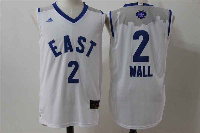 Washington Wizards 2 Wall white 2016 NBA All Star jerseys