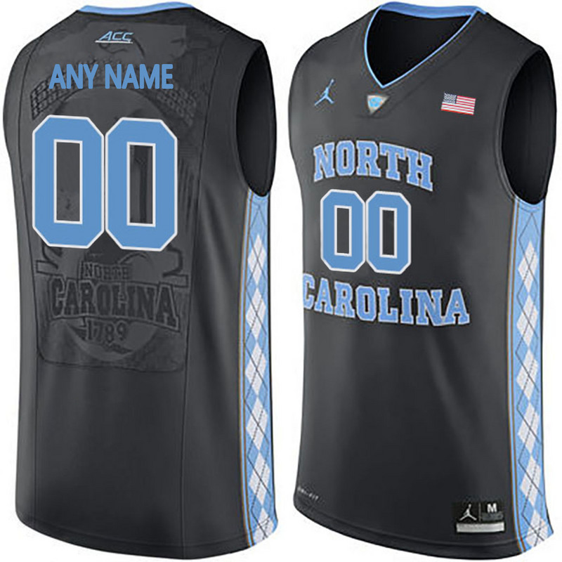 2016 Men North Carolina Tar Heels Customized College Basketball Jersey Black