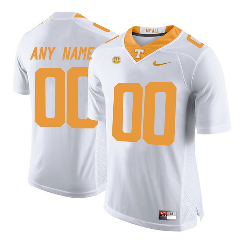 2016 Men Tennessee Volunteers Customized College Football Limited Jersey White