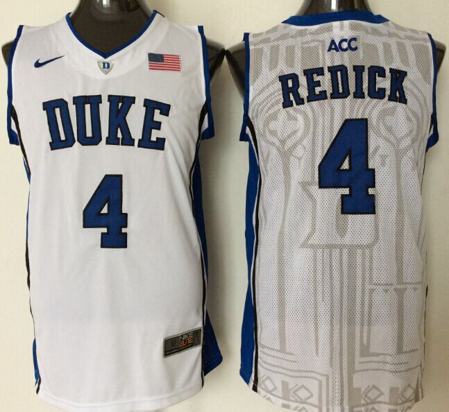 2016 NBA NCAA Duke Blue Devils 4 Redick White Jerseys 1