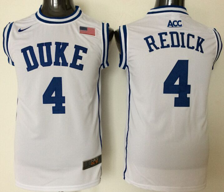 2016 NBA NCAA Duke Blue Devils 4 Redick White Jerseys