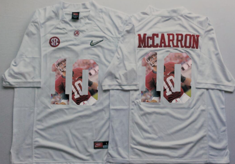 2016 NCAA Alabama Crimson Tide 10 Mccarron White Fashion Edition Jerseys
