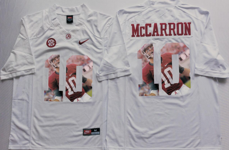 2016 NCAA Alabama Crimson Tide 10 Mccarron White Limited Fashion Edition Jerseys