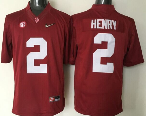 2016 NCAA Alabama Crimson Tide 2 Henry red jerseys