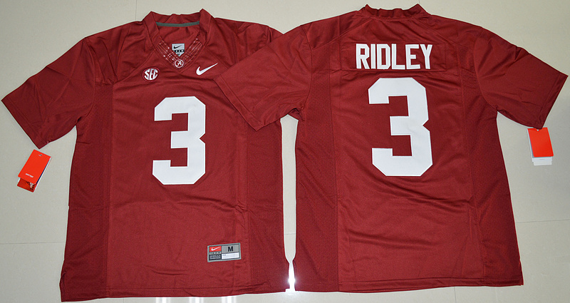 2016 NCAA Alabama Crimson Tide 3 Calvin Ridley Crimson College Football Limited Jersey