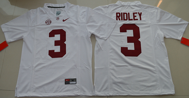 2016 NCAA Alabama Crimson Tide 3 Calvin Ridley White College Football Limited Jersey