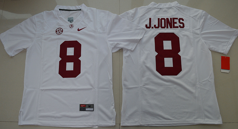 2016 NCAA Alabama Crimson Tide 8 Julio Jones White College Football Limited Jersey