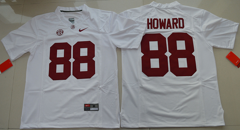 2016 NCAA Alabama Crimson Tide 88 O.J Howard White College Football Limited Jersey