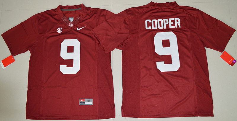 2016 NCAA Alabama Crimson Tide 9 Amari Cooper Crimson College Football Limited Jersey
