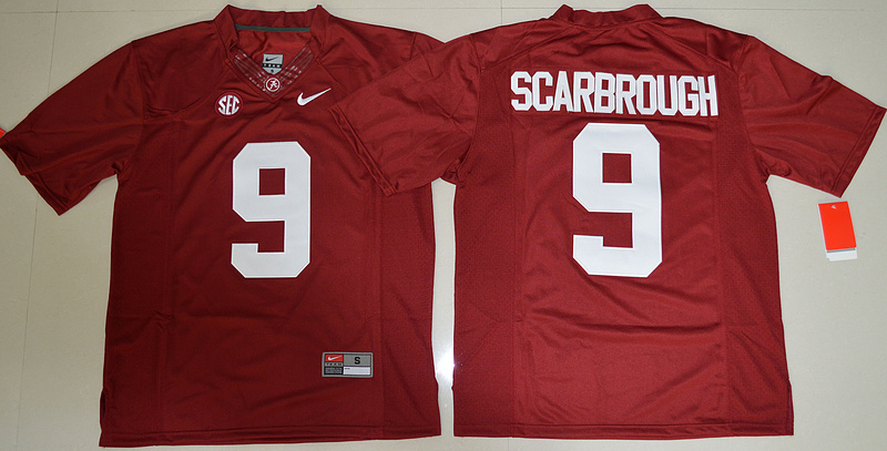 2016 NCAA Alabama Crimson Tide 9 Bo Scarbrough Crimson College Football Limited Jersey