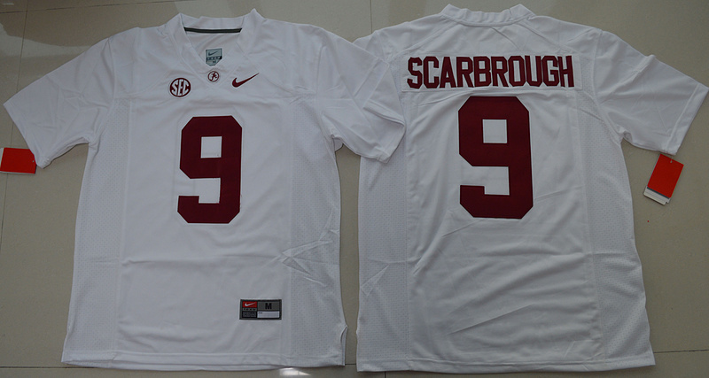 2016 NCAA Alabama Crimson Tide 9 Bo Scarbrough White College Football Limited Jersey