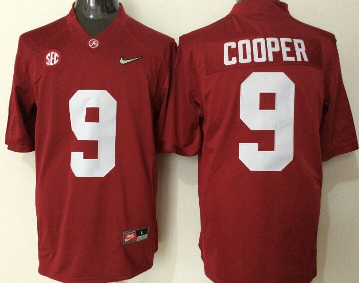 2016 NCAA Alabama Crimson Tide 9 Cooper red jerseys