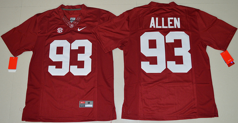 2016 NCAA Alabama Crimson Tide 93 Jonathan Allen Crimson College Football Limited Jersey