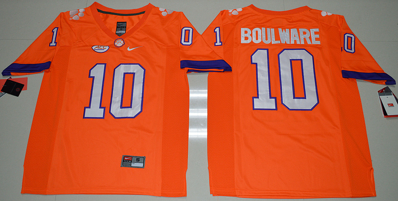 2016 NCAA Clemson Tigers 10 Ben Boulware Orange College Football Limited Jersey