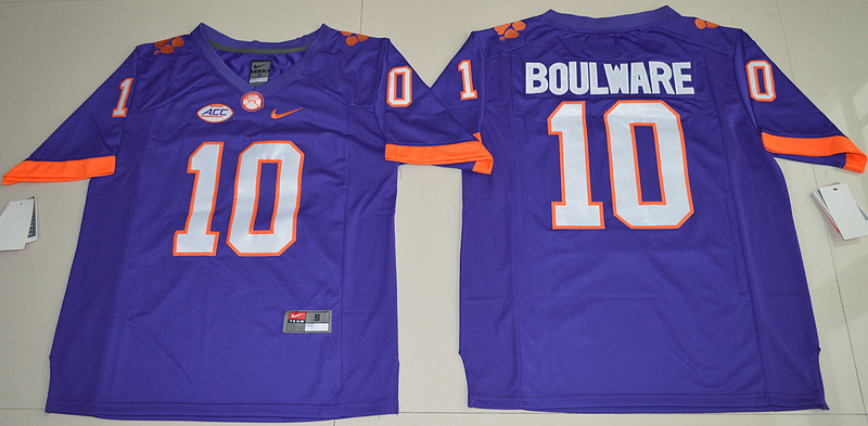 2016 NCAA Clemson Tigers 10 Ben Boulware Purple College Football Limited Jersey