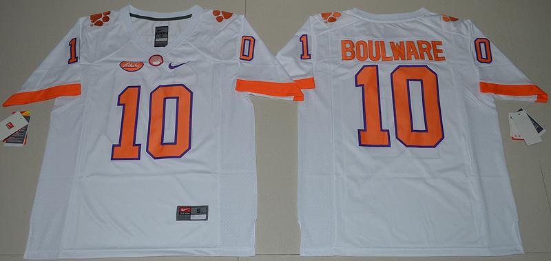 2016 NCAA Clemson Tigers 10 Ben Boulware White College Football Limited Jersey