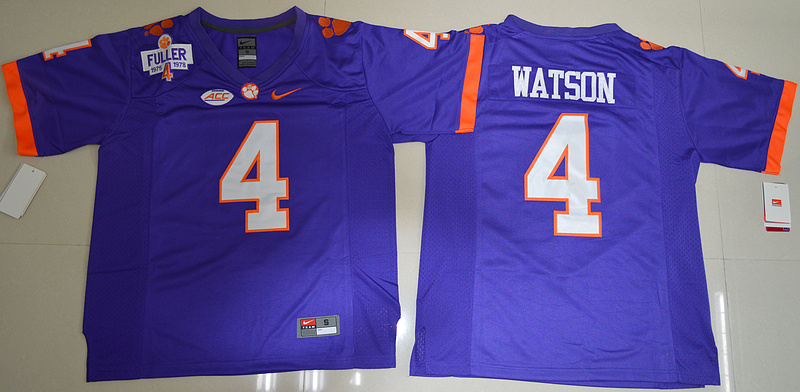 2016 NCAA Clemson Tigers 4 DeShaun Watson Purple College Football Limited Jersey