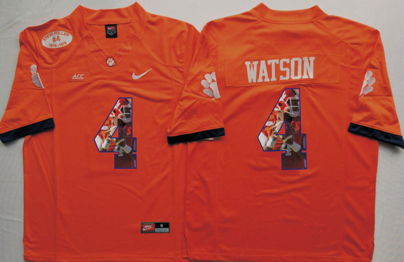 2016 NCAA Clemson Tigers 4 Watson Orange Limited Fashion Edition Jerseys