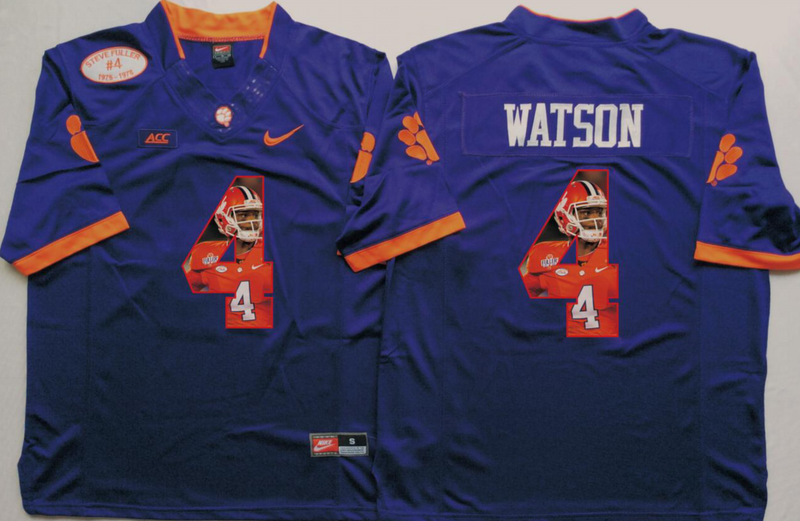 2016 NCAA Clemson Tigers 4 Watson Purple Limited Fashion Edition Jerseys