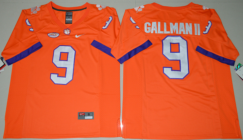 2016 NCAA Clemson Tigers 9 Wayne Gallman II Orange College Football Limited Jersey