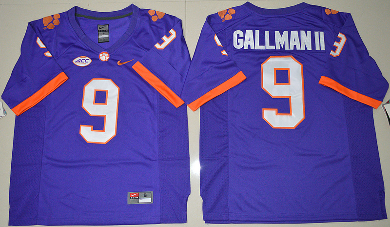 2016 NCAA Clemson Tigers 9 Wayne Gallman II Purple College Football Limited Jersey