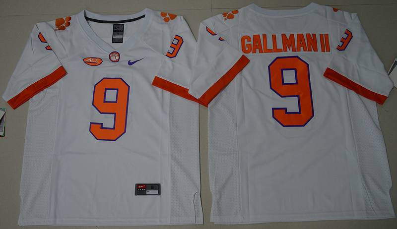2016 NCAA Clemson Tigers 9 Wayne Gallman II White College Football Limited Jersey