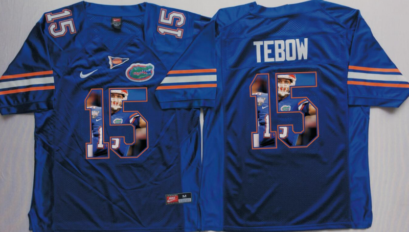 2016 NCAA Florida Gators 15 Tebow Blue Fashion Edition Jerseys