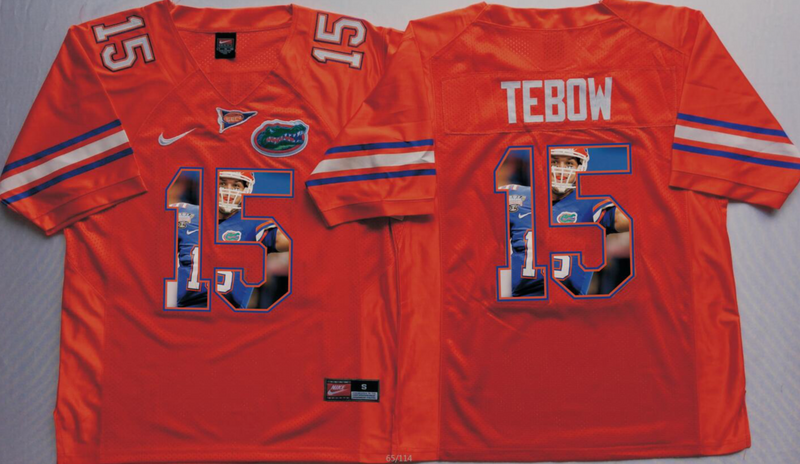 2016 NCAA Florida Gators 15 Tebow Orange Fashion Edition Jerseys