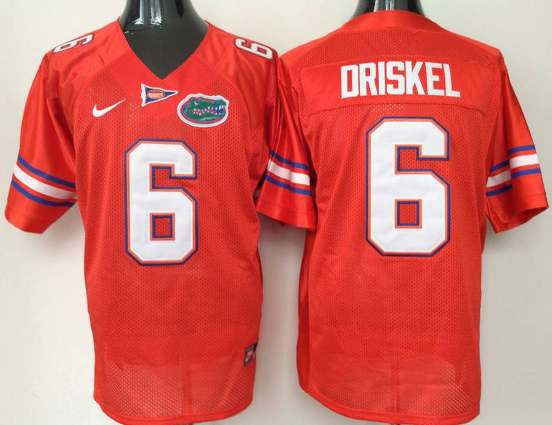 2016 NCAA Florida Gators 6 Driskel Orange Jerseys