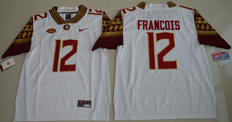 d0a63aec1 2016 NCAA Florida State Seminoles 12 Deondre Francois White College Football  Limited Jersey