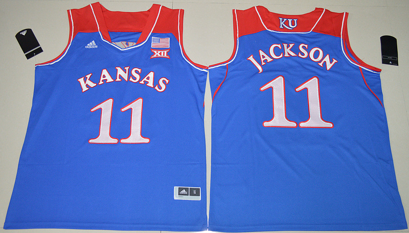 2016 NCAA Kansas Jayhawks 11 Josh Jackson Royal Blue College Basketball Authentic Jersey