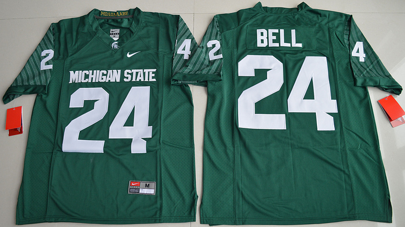 2016 NCAA Michigan State Spartans 24 Le'Veon Bell Green College Alumni Football Limited Jersey