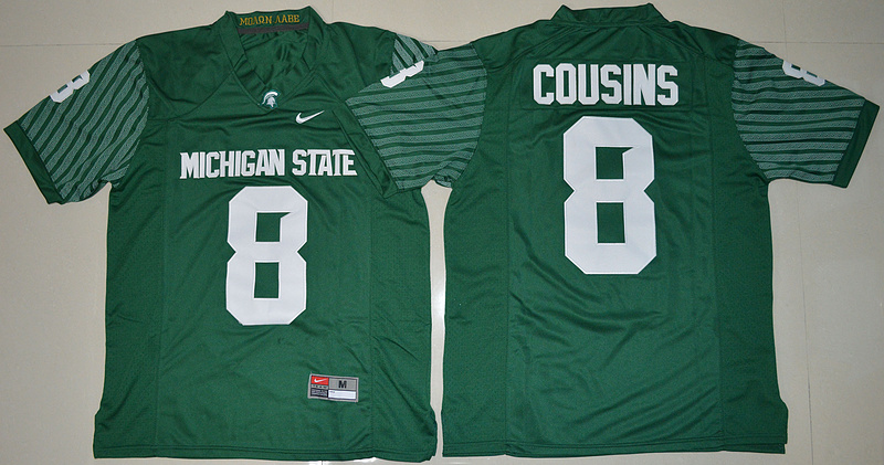 2016 NCAA Michigan State Spartans 8 Kirk Cousins Green College Alumni Football Limited Jersey