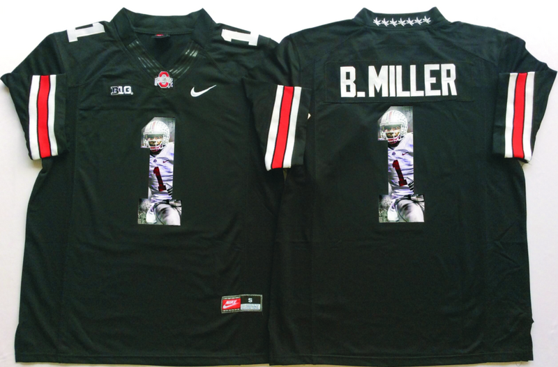 2016 NCAA Ohio State Buckeyes 1 B.Miller Black Fashion Edition Jerseys