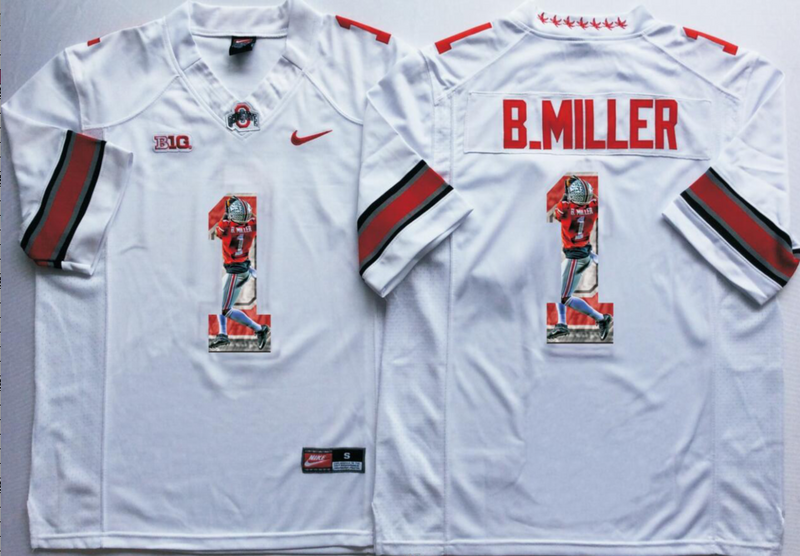 2016 NCAA Ohio State Buckeyes 1 B.Miller White Fashion Edition Jerseys