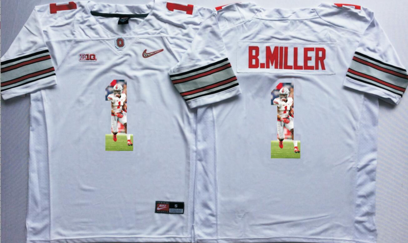 2016 NCAA Ohio State Buckeyes 1 B.Miller White Fashion Edition Jerseys1