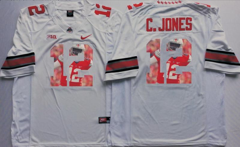 2016 NCAA Ohio State Buckeyes 12 C.Jones White Fashion Edition Jerseys