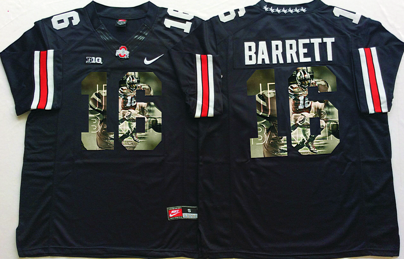 2016 NCAA Ohio State Buckeyes 16 Barrett Black Fashion Edition Jerseys