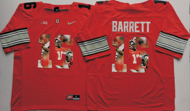 2016 NCAA Ohio State Buckeyes 16 Barrett Red Fashion Edition Jerseys1