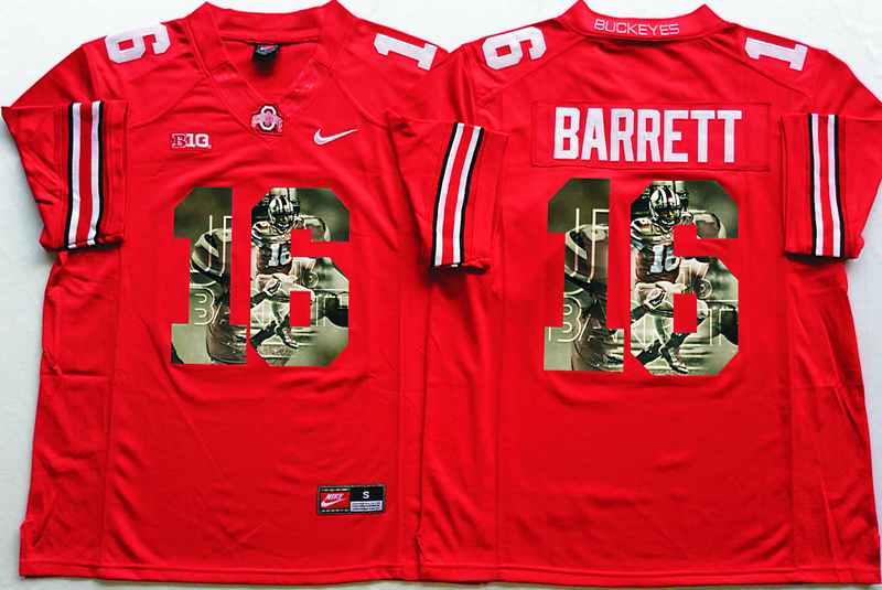 2016 NCAA Ohio State Buckeyes 16 Barrett Red Fashion Edition Jerseys2